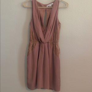 Bcbg Velvet accents dress